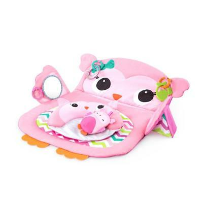 Bright Starts Owl Prop & Play Tummy Time Mat