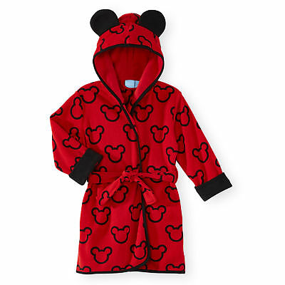 Disney Baby Mickey Mouse Print Hooded Robe