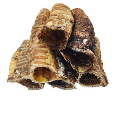 100% Natural Dog Treat and Chew Beef Moo Tubes Trachea Cut 500g Pack 10-15cm