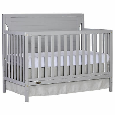 Dream On Me Cape Cod 5-in-1 Convertible Crib - Pebble Grey