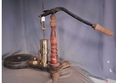 Antique Central Scientific Laboratory Vacuum Pump Steam Punk Brass Wood PROJECT