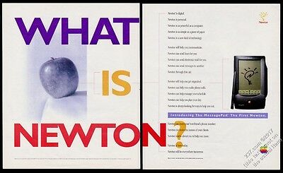 1993 Apple Newton photo vintage print ad