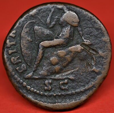Iconic Copper As Of Antoninus Pius: Britannia. Rome, Ad 154-5. Ric: 934. Rare Vf