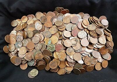 """4649 1930-39 ALL MINT MARKED """"D"""" OR """"S"""" .   Wheat cents AG-XF detail coins."""