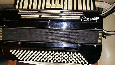 Vintage Camerano Made in Italy 41-Key 120-Bass Key Accordion W/Case