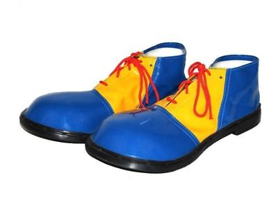 Children Jumbo Clown Shoes Blue Yellow Costume Accessory Circus Footwear Adult