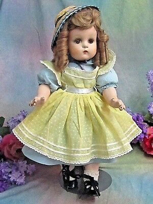 "ANTIQUE 1941 MADAME ALEXANDER 18"" JEANNIE WALKER Composition DOLL TAGGED DRESS"