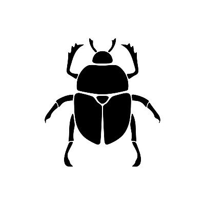 SCARAB BEETLE Vinyl Decal Sticker - Bug Amulet Ancient Egypt Insect