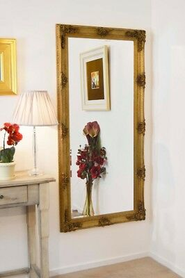 Abbey Large Gold Vintage Style Full Length Wall Mirror 5Ft5 X 2Ft7 165cm X 78cm