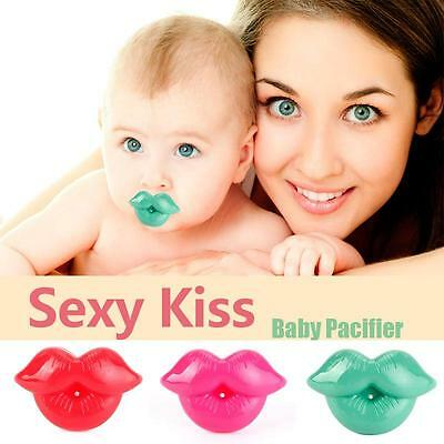 Unique Baby Toddler Infant Pacifier Kiss Dummy Lip Nipple Soother Silicone SS US