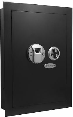 Barska Biometric Hidden Wall Safe w/ Fingerprint Lock Left Opening Security Box