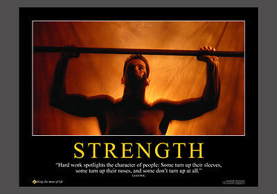 Weightlifting Fitness Workout STRENGTH Motivational Inspirational Poster