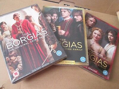 The Borgias - Series 1 2 3 - Complete (DVD BOX SETS) NEW AND SEALED REGION 2