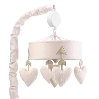 Lambs & Ivy(R) Baby Love Pink/Gold Heart Musical Mobile