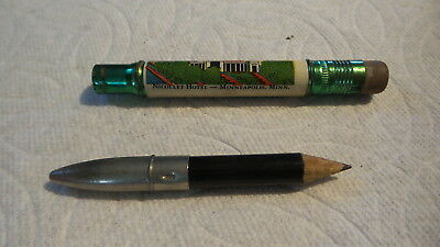 Vintage SOUVENIR BULLET PENCIL Nicollet Hotel, Minneapolis, Minnesota