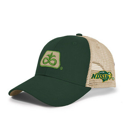 2017 PIONEER SEED *NORTH DAKOTA STATE BISON* Green & Gold Mesh *LOGO* HAT*