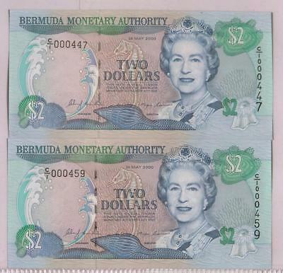 Bermuda Monetary Authority | 2000 $2 UNC | 2 Banknote | Low Number (RC4170)