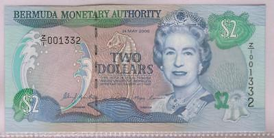 Bermuda Monetary Authority | 2000 $2 UNC | Replacement Z/1 | Low Number (RC4168)