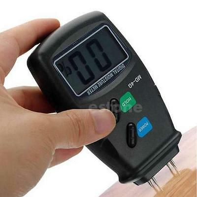 4-Pin Digital LCD Wood Moisture Meter Humidity Damp Detector Tester 5%-40% TS