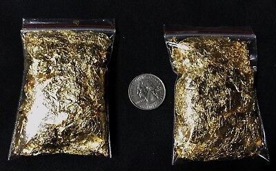 2 GRAMS of Gold Leaf Flakes (BEST Premium Grade) with Fastest FREE Shipping