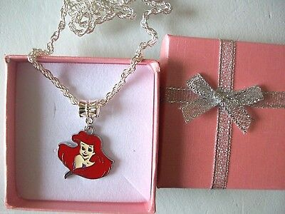 New Little Mermaid  Princess   Ariel  Necklace Strong Age 2,3,4,5,6,7Y Gift Box,
