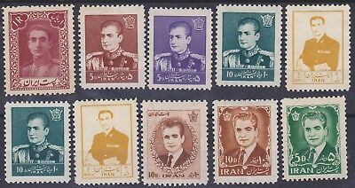196) Persia/ir An 1950 / 1966    Mint Selection With Gum - Perfect