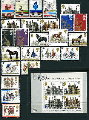 1978 GB SG1050-74 Year commemorative sets 24 stamps unmounted mint + MS1058