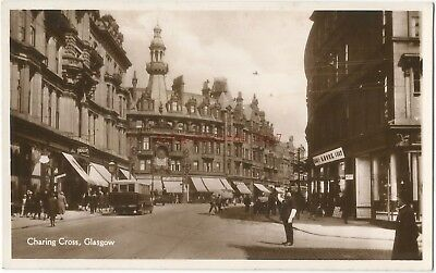 Scotland Glasgow Charing Cross Real Photo Vintage PC 10.11
