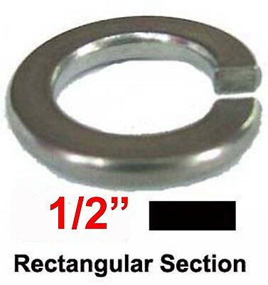 "1/2 Stainless Steel Spring Washers imperial washers 1/2"" Rectangular Spring x10"