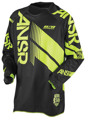 New Answer Elite Jersey MX ATV Black Hi Vis Yellow