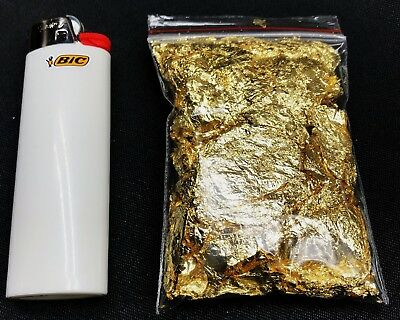 1 GRAM of Gold Leaf Flakes (BEST Premium Grade) with Fastest FREE Shipping