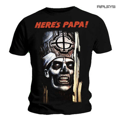 Official T Shirt GHOST Heavy Metal 'Here's PAPA' Emiterus All Size
