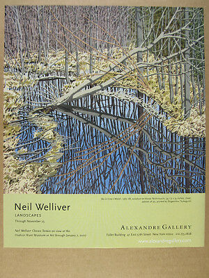 2006 Neil Welliver Landscapes painting exhibition NYC gallery vintage print Ad