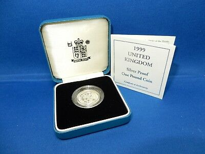 1999 UK Silver Proof £1 Coin - 9.5g .925 Sterling