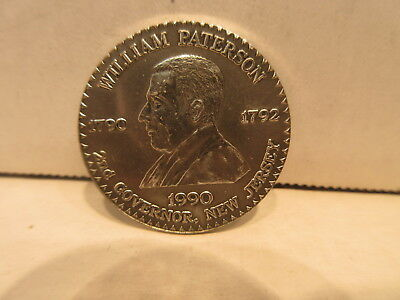 William Paterson 2nd Governor Of New Jersey 1790-1792 .999 Fine Silver Medal