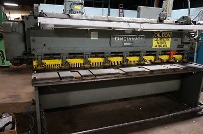 "Cincinnati 8' 3/16"" Mechanical  Shear Metal Shear Metal Cutting Shear"