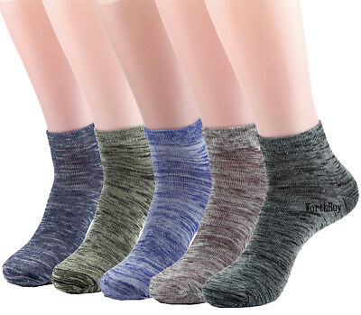 New Lot 12 Pairs Mens Womens Ankle Socks Cotton Stretch Multi Color Solid Sand
