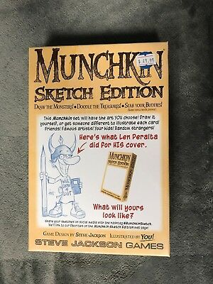 Munchkin Sketch Edition Game Steve Jackson James Mj