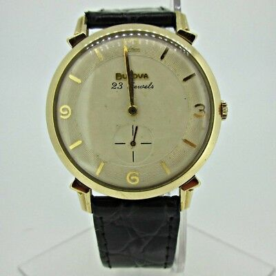 Vintage Bulova L8 10BP 23 Jewels 10k Rolled Gold Plated Watch