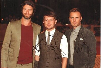 TAKE THAT personally BAND signed 12x8 inch GARY BARLOW, MARK OWEN, HOWARD DONALD