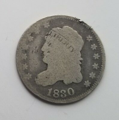 Circulated 1830 Capped Bust Silver Half Dime Grading Good/AG G9739