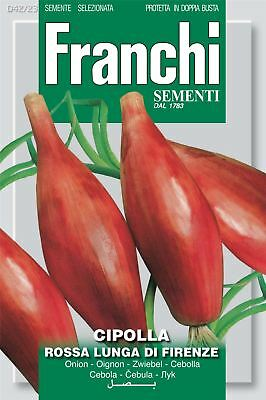 Franchi Seeds of Italy - Onion - Rossa Lunga Di Firenze - Seeds