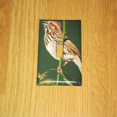 Classic Song Sparrow Wild Bird Light Switch Cover Plate