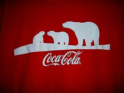 Coca-Cola with Polar Bears Adult Large Red T-Shirt