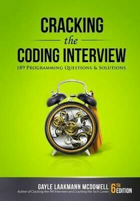 NEW Cracking the Coding Interview By Gayle Laakmann McDowell Paperback
