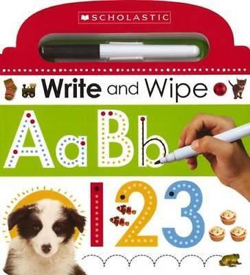 NEW Write and Wipe ABC 123 By Scholastic Board Book Free Shipping