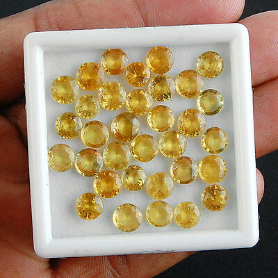 35 Cts/33 Pcs ~ Certified Lot ~ High End Finest Quality Natural Yellow Sapphires