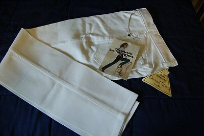 NWT VINTAGE CHIC BY H.I.S. WOMEN'S WHITE JEANS Tight Skinny Legs Size on tag 8/9