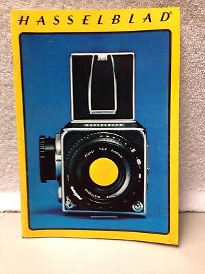 Vintage 1975 Hasselblad camera product equipment catalog lens cases accessories