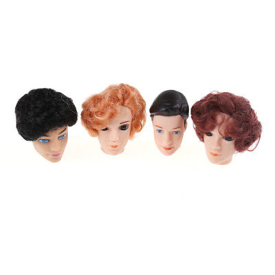 3D Eyes Doll Head With Hair For Barbie Boyfriend Ken Male Heads Toy Accessories,